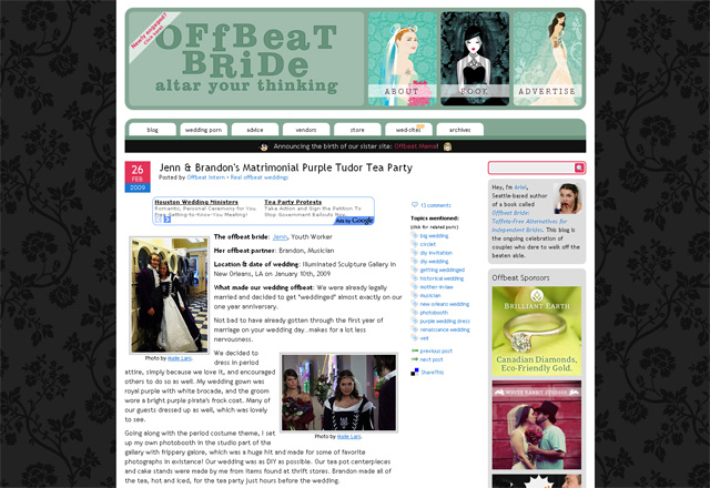 Maile Lani on Offbeat Bride