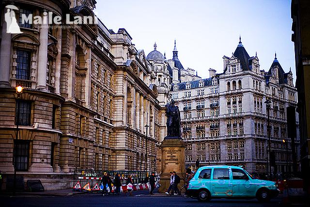 A Blue London Taxi