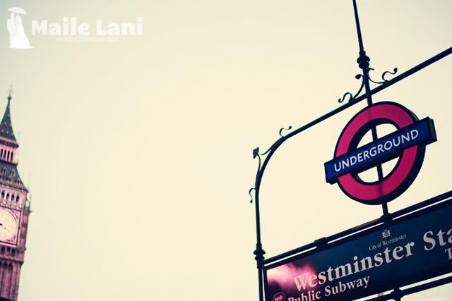 The London Underground Station & Big Ben