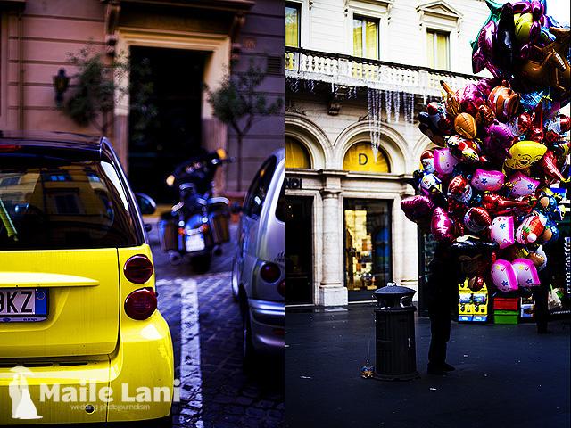 Rome: Balloon Man & Odd Yellow Car