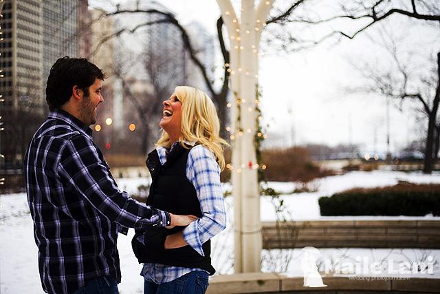 Monica & Charlie Chicago Engagement Photos