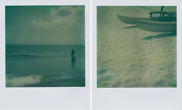 Polaroid Artistic TZ   fishing days.   docked.