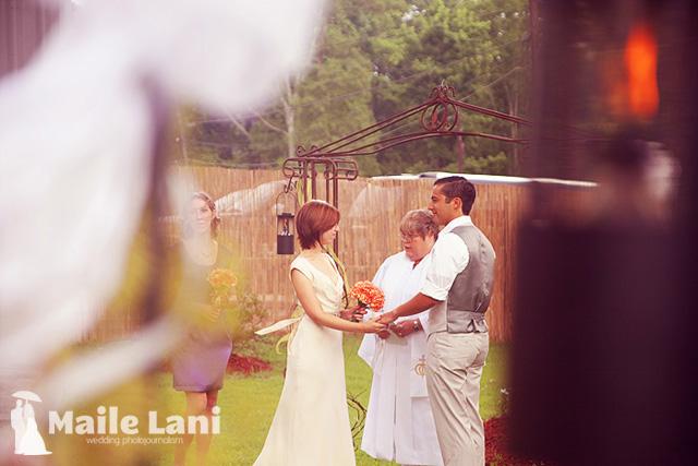 Brandy & Chris • Backyard Wedding Photographs