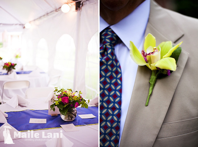 Wedding Orchid Boutonniere