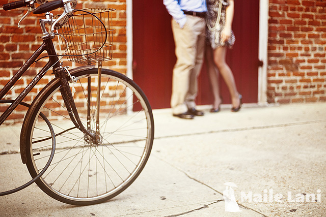 Bicycle Engagement Photography