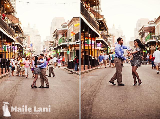 Burbon Street Engagement Photography