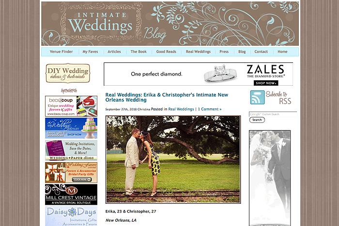 Intimate Weddings Blog