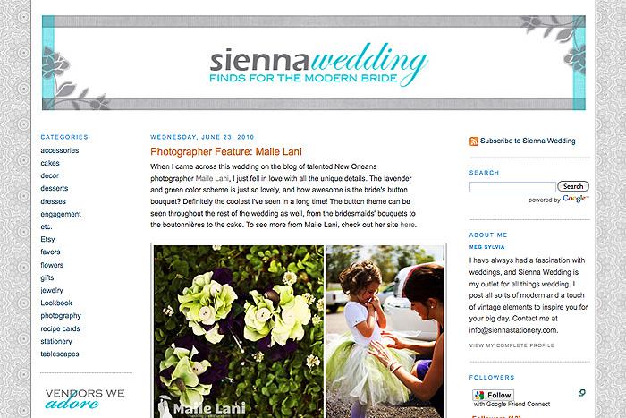 Sienna Wedding