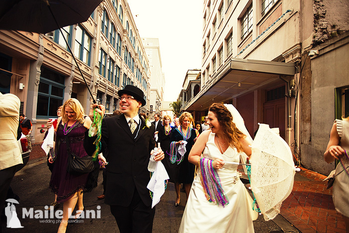 French Quarter Second Line Wedding Photography