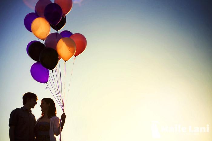 Balloon Engagement Photography Photographs