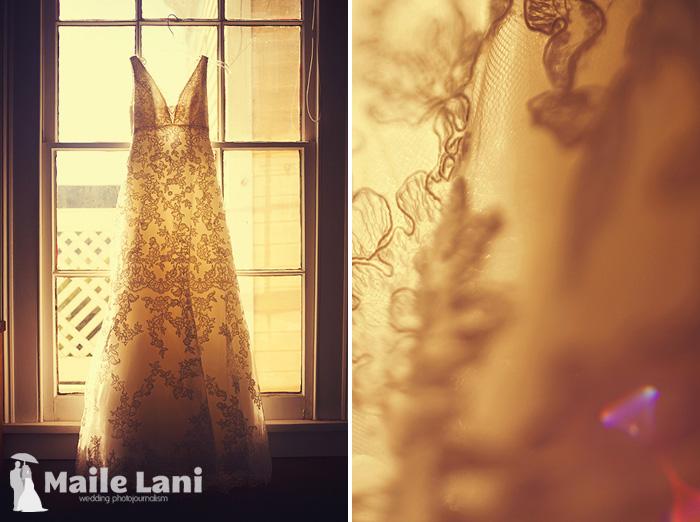 Vintage Inspired Lace Wedding Dress