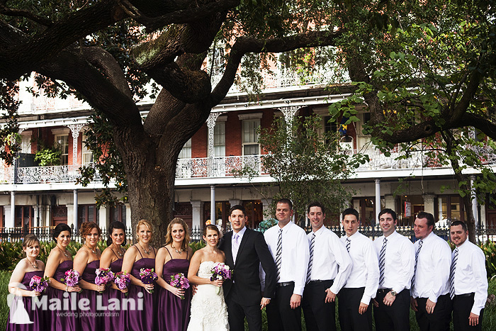 Bridal Party Photographs New Orleans Jackson Square
