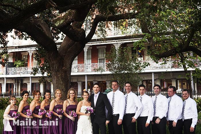 Bridal Party Photographs New Orleans Jackson Square