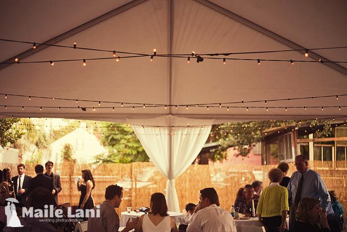 Backyard Wedding Tent New Orleans