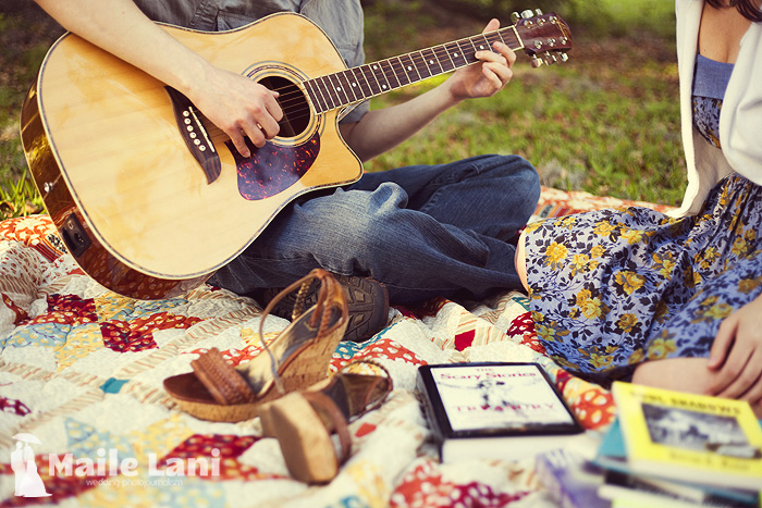 Guitar Engagement Photographs