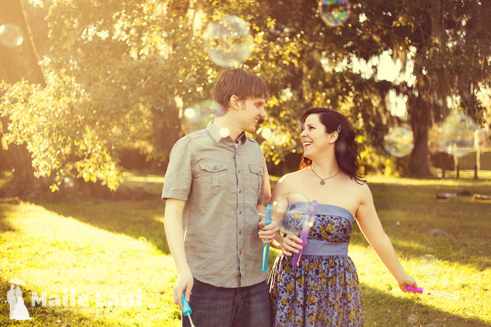 Engagement Photography with Bubbles