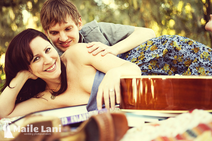 Blanket Guitar Engagement Photography