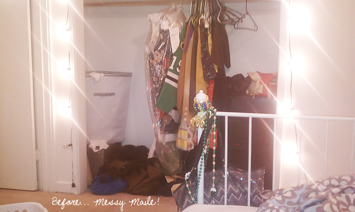 Closet Office Makeover Before