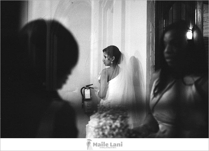 Black and White Film Wedding Photography