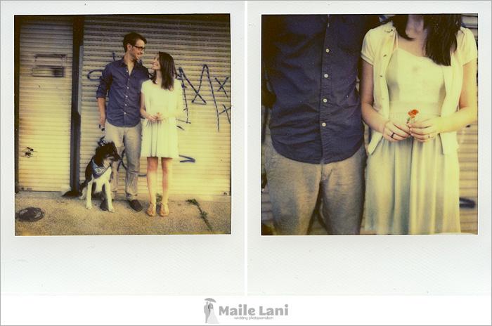 Polaroid Engagement Photography