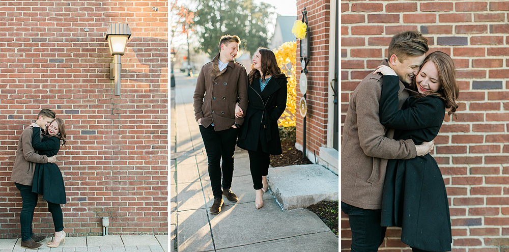 Downtown Franklin Engagement Photos