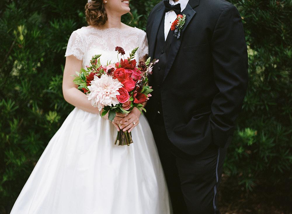 Poppy and Mint Wedding Flowers
