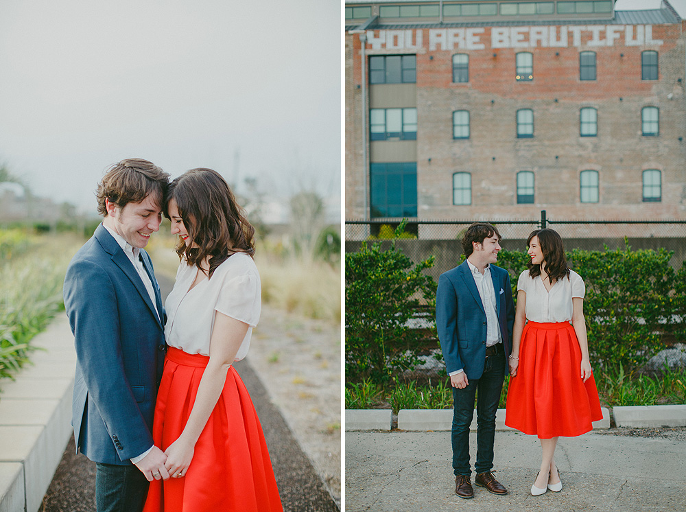 Crescent Park New Orleans Engagement Session