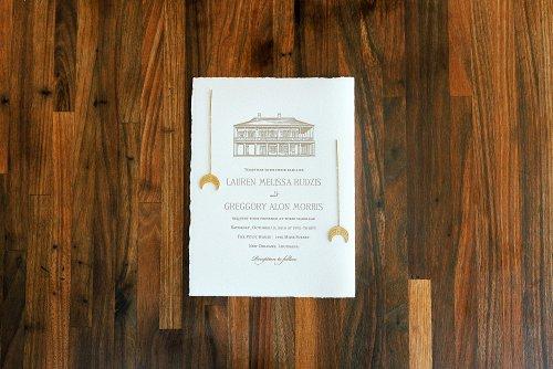 Pitot House Wedding Invitation New Orleans