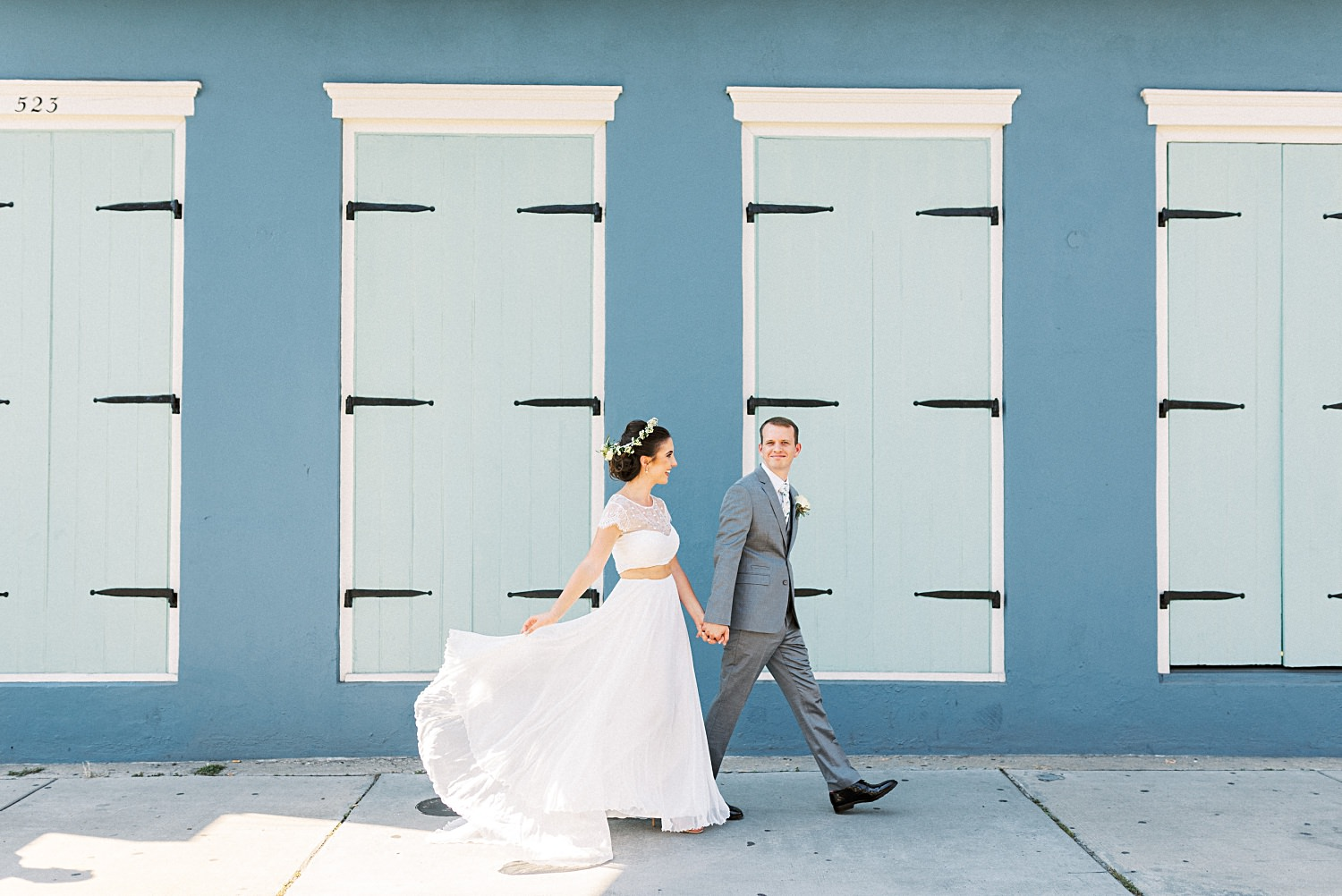 Laid Back Bohemian Napoleon House Wedding in New Orleans