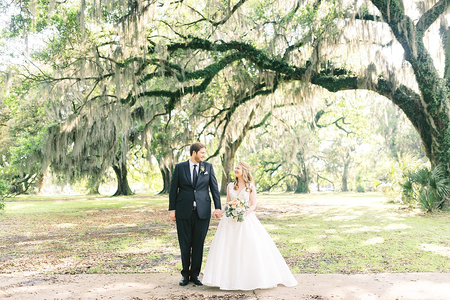 City Park Wedding Spanish Moss